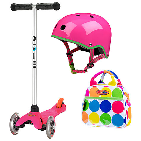 Buy Micro Scooters Mini Set, Pink Online at johnlewis.com