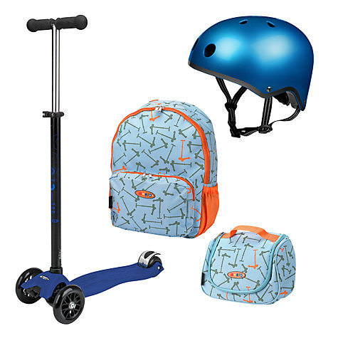 Buy Micro Scooters Maxi Set, Blue Online at johnlewis.com