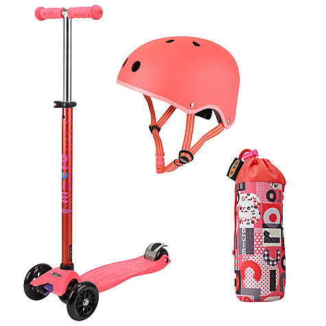 Buy Micro Scooters Maxi Set, Coral Online at johnlewis.com