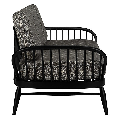 Buy ercol Studio Couch in Cummersdale Archive Print, Silver Online at johnlewis.com