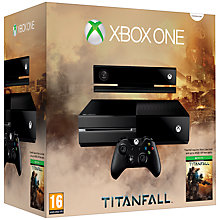 Buy Microsoft Xbox One Console with Titanfall, Kinect Sports Rivals & 12 Month Xbox Live Gold Subscription Online at johnlewis.com