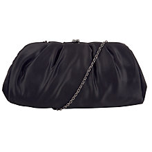 Buy John Lewis Satin Ruched Clutch Bag, Black Online at johnlewis.com