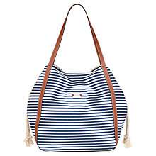 Buy Modalu Riviera Shopper Handbag, Nautical Online at johnlewis.com