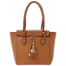 Buy Dune Deavey Woven Side Detail Tote Bag, Tan Online at johnlewis.com