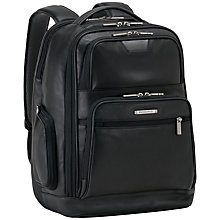 Buy Briggs & Riley Kl275 @Work Medium Leather Backpack, Black Online at johnlewis.com
