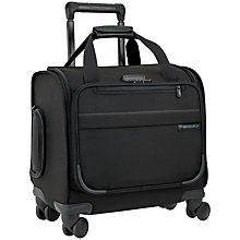 Buy Briggs & Riley Baseline 4-Wheel Cabin Suitcase, Black Online at johnlewis.com