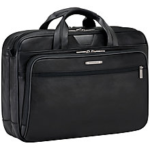 Buy Briggs & Riley KL200 @Work Leather Briefcase, Black Online at johnlewis.com