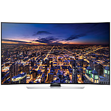 "Buy Samsung 55HU8500 Curved 4K Ultra HD 3D Smart TV, 55"" with Freeview/Freesat HD and 2x 3D Glasses Online at johnlewis.com"