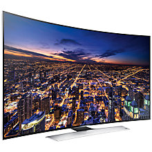 "Buy Samsung UE55HU8500 Curved 4K Ultra HD 3D Smart TV, 55"" with Freeview/Freesat HD and 2x 3D Glasses Online at johnlewis.com"