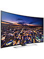 "Samsung UE55HU8500 Curved 4K Ultra HD 3D Smart TV, 55"" with Freeview/Freesat HD and 2x 3D Glasses FREE Wireless Multiroom Speaker, White & Hub"