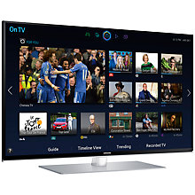 "Buy Samsung UE40H6700 LED HD 1080p 3D Smart TV, 40"" with Freeview/Freesat HD, Voice Control, 2x 3D Glasses, Sound Bar with 3D Sound Plus & Subwoofer Online at johnlewis.com"