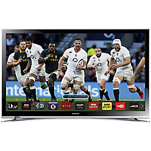 "Buy Samsung UE32H4510 LED HD Ready Smart TV, 32"" with Freeview HD, White with HW-J550 Wireless Soundbar Online at johnlewis.com"