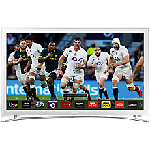 "Buy Samsung UE22H5610 LED HD 1080p Smart TV, 22"" with Freeview HD, White with HW-J551 Wireless Soundbar Online at johnlewis.com"