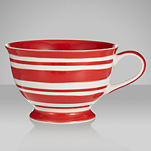 Buy John Lewis Stripes Mug, Red Online at johnlewis.com
