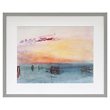 Buy Joseph Mallord William Turner - Venice: Looking Across The Lagoon at Sunset Framed Print, 40.6 x 49.9cm Online at johnlewis.com