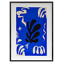 Buy Henri Matisse - Composition Fond Bleu Framed Print, 71.8 x 52cm Online at johnlewis.com