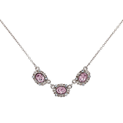Buy Downton Abbey Collection Silver Plated Crystal Amethyst Necklace Online at johnlewis.com