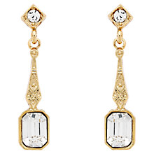 Buy Downton Abbey Collection Gold Plated Crystal Baguette Drop Earrings Online at johnlewis.com