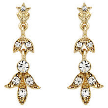Buy Downton Abbey Collection Gold Plated Crystal Drop Earrings Online at johnlewis.com