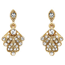 Buy Downton Abbey Collection Gold Plated Crystal Fan Drop Earrings Online at johnlewis.com