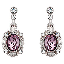 Buy Downton Abbey Silver Plated Amethyst Drop Earrings Online at johnlewis.com