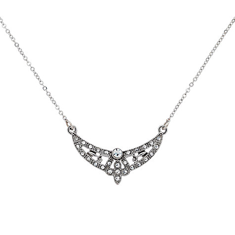 Buy Downton Abbey Collection Silver Plated Crystal Necklace Online at johnlewis.com