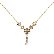 Buy Downton Abbey Collection Gold Plated Crystal Y-Shape Pendant Necklace Online at johnlewis.com