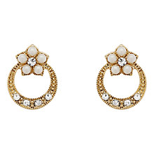 Buy Downton Abbey Gold Plated Faux Pearl Crystal Stud Earrings Online at johnlewis.com