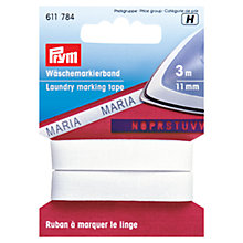 Buy Prym Laundry Marking Tape, 3m x 11mm Online at johnlewis.com