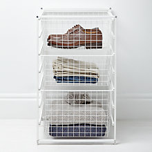 Buy Elfa 74cm Freestanding Basket Tower Online at johnlewis.com