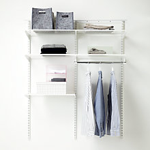 Buy Elfa 1212mm White Wardrobe Set 9 Online at johnlewis.com