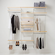 Buy Elfa 1812mm White / Birch Wardrobe Set 14 Online at johnlewis.com