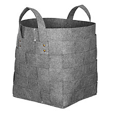 Buy John Lewis Copenhagen Woven Felt Laundry Basket Online at johnlewis.com