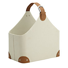 Buy John Lewis Country Magazine Holder, Cream Online at johnlewis.com