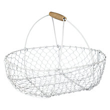 Buy John Lewis Croft Collection Wire Basket, Grey Online at johnlewis.com