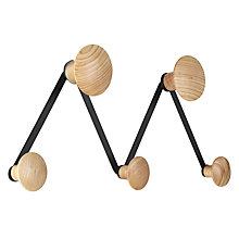Buy John Lewis Brooklyn 5 Hook Wall Rack Online at johnlewis.com