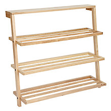 Buy John Lewis Scandi Leaning Shoe Rack Online at johnlewis.com