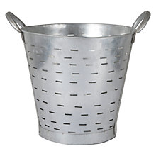 Buy Garden Trading Vintage Oyster Bucket, Galvanised Online at johnlewis.com