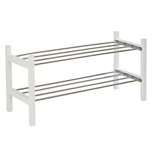 Buy John Lewis Wood and Metal Shoe Rack, 2 Tier Online at johnlewis.com