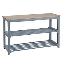 Buy John Lewis Croft Collection Shoe Rack, Blue, 3 Tier Online at johnlewis.com