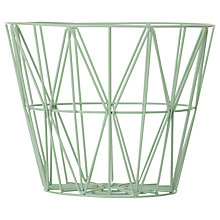 Buy ferm LIVING Wire Storage Basket, Medium, Mint Online at johnlewis.com