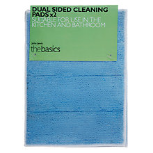 Buy John Lewis The Basics Double Sided Bathroom Cleaning Pads, Set of 2 Online at johnlewis.com