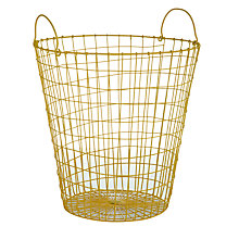 Buy House by John Lewis Wire Wastepaper Basket, Yellow Online at johnlewis.com