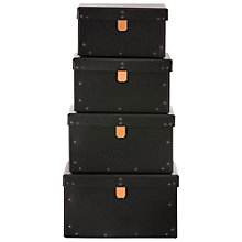 Buy Ferm Living Storage Boxes, Black, Set of 4 Online at johnlewis.com