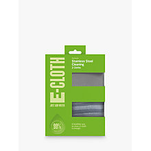 Buy e-cloth Stainless Steel Cleaning and Polishing Cloths, Pack of 2 Online at johnlewis.com
