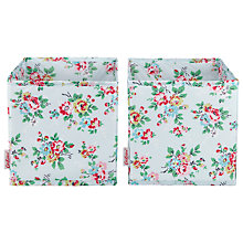 Buy Cath Kidston Cube Storage Boxes, Set of 2, Kingswood Rose Online at johnlewis.com