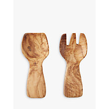 Buy ICTC Olive Wood Salad Servers Online at johnlewis.com