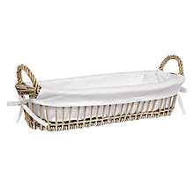 Buy John Lewis Willow Bread Basket, Grey Online at johnlewis.com