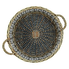 Buy John Lewis Willow Tray, Grey, Dia.42cm Online at johnlewis.com