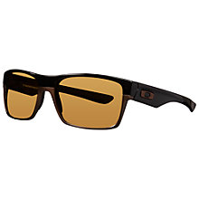 Buy Oakley 009189 Twoface Square Sunglasses, Brown Online at johnlewis.com